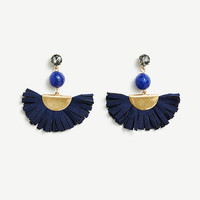 Raffia Fan Earrings | Ann Taylor