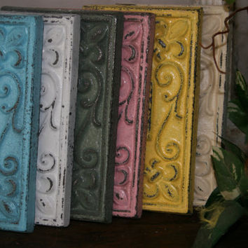 Light Switch Cover / electrical plate / electrical covers / light switch covers /  Sage /  fleur de lis / shabby chic