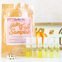 HELLO FALL SAMPLE PACK Fragrance Oil-Based Perfumes - 6 Samples 2 mL each - Fall Collection 2019