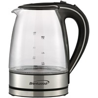 Brentwood Tempered Glass Electric Kettle 1.7 Liter