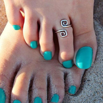 3pcs Womens Mens Toe Rings Set Retro Silver Foot Beach Jewelry Birthday Party Gift for Family Friend Adjustable Graduate Gift, Inspirational Ring, Journey, Nautical Ring, Travel Ring  Women Toe Ring Gift