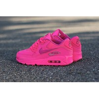 NIKE AIR MAX 90 fashion ladies men running sports shoes sneakers F-PS-XSDZBSH  The shallow Rose red