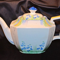 ABJ Grafton Ware, Made In England, Vintage Teapot, Bluebell Pattern