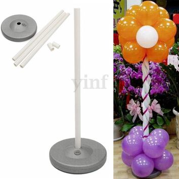 1 Set Balloon Column Base Stand Display Wedding Birthday Party DIY Decoration(Fast Deliver)