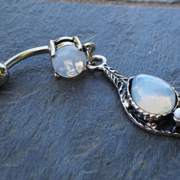 Opalite Boho Belly Button Rings