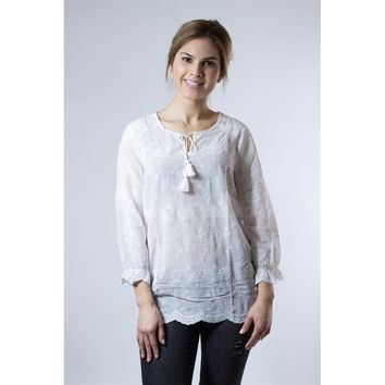 Beautiful Embroidered Lace Blouse