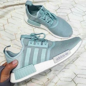 ¡®¡¯Adidas¡®¡¯ Women Running Sport Casual Shoes NMD Sneakers - Mint Green