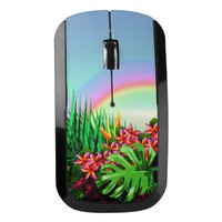 Women's Beautiful Bright Tropical Paradise Rainbow Wireless Mouse