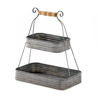 Tin 2 Tier Basket
