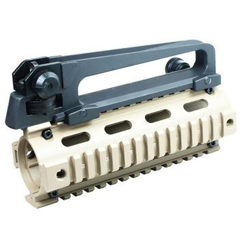 DSstyles Full Metal QD Quick Release Carry Handle Detachable with Dual Aperture A2 Rear Sight for M4 Airsoft