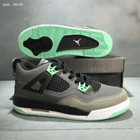 NIKE AIR JORDAN High Tops Contrast Sports shoes Black-Sapphire-Green G-A36H-MY
