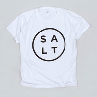 SALT SURF — Logo Tee White
