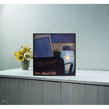 LIGHTED VINTAGE LAUNDRY CANVAS