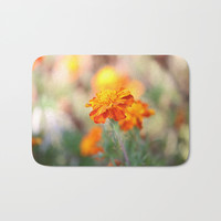 Marigolds In The Fall Bath Mat by Theresa Campbell D'August Art