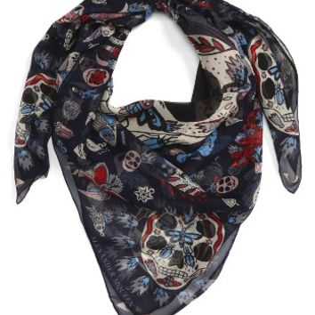 Alexander McQueen Underwater Sea World Silk Scarf | Nordstrom