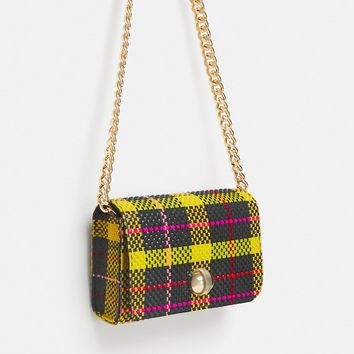 PLAID PRINT CROSSBODY BAG DETAILS