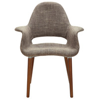 Aegis Dining Armchair Accent Chair in Taupe