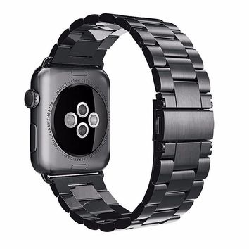 Sport Strap For Apple Watch Band 38mm 42mm Iwatch 3 2 1 Stainless Steel Wrist band Link bracelet Watch band Strap