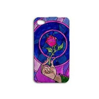 Beauty and the Beast Disney Case Phone Cover iPhone Cute Purple Pink Rose Girly
