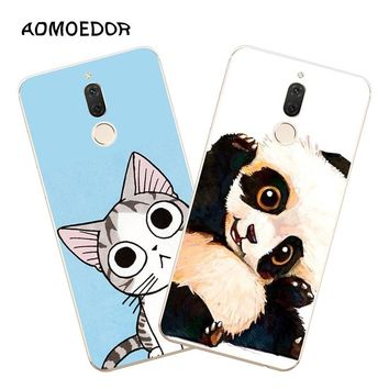 Huawei nova 2i Case,Silicon Lovely kitten Painting Soft TPU Back Cover for Huawei nova 2I Phone fitted Case shell