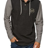 O'Neill Market Long Sleeve Knit Hooded Shirt - Mens Shirt - Black