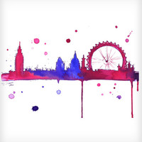London Baby Watercolor Print