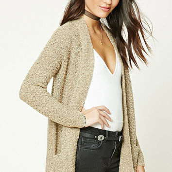 Marled Loop Knit Cardigan