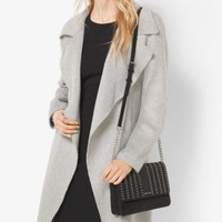 Belted Double-Face Wool Wrap Coat | Michael Kors