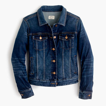 J.Crew Womens Stretch Denim Jacket In Sharon Wash