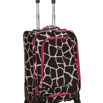 "F181-PINKGIRAFFE 20"" Spinner Carry On Luggage Set"