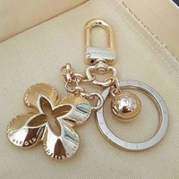 Louis Vuitton LV Fashionable Women Men Four-Leaf Clover  Bag Hanging Drop Car Key Chain Bag Accessories Lovers Gift I/A