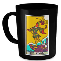 The Fool Tarot Card Coffee Cup Mug foolmug