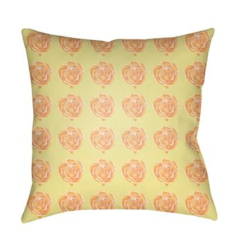 Warhol Pillow Cover - Peach, White, Pale Pink, Bright Yellow - WA005