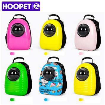 HOOPET Fashion Small Pet Carrier Purse Backpack Dog Cat Travel Astronaut Capsule Bag 12 Colors styles