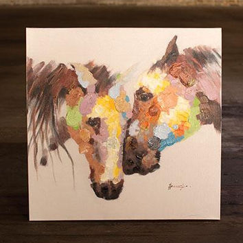 Oil Painting- Two Horse Heads