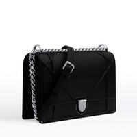 """diorama"" bag in black grained calfskin - Dior"