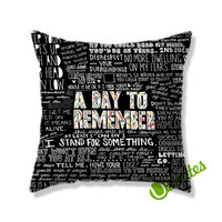 A Day To Remember Have Faith In Me Square Pillow Cover