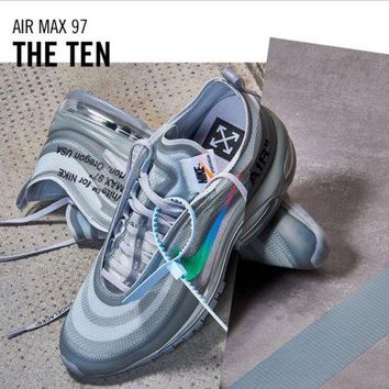 """The Ten"" Off-White x Nike Air Max 97 Wolf Grey   Menta. "" 7b511775a"