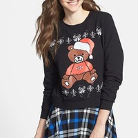 Starling 'Santa Bear' Sweatshirt (Juniors) (Online Only) | Nordstrom
