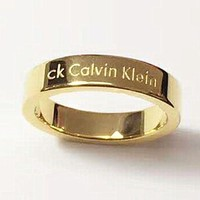 Calvin Klein CK Stylish Trending Women Men Plated Ring Jewelry I