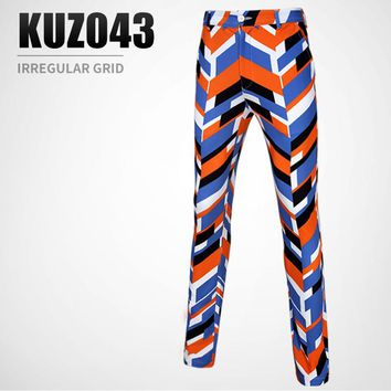 PGM spring summer golf Sportswear men's irregular pattern design printed pants breathable and quick-drying golf Sports trousers