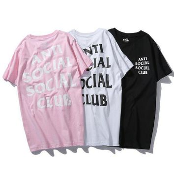 Anti Social Social Club Fashion Print Round Neck T Shirt Assc