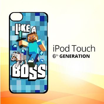 Minecraft Creeper Dog Like A Boss V0981 iPod Touch 6 Case