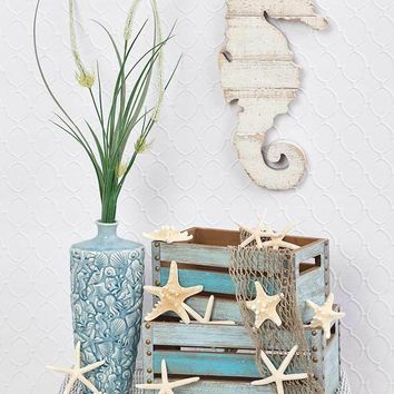Coastal Seashore Home Decor & Accent Starfish Seashell Vase Seahorse Wall Art