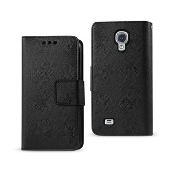New 3 In 1 Wallet Case In Black For Samsung Galaxy S4 By Reiko