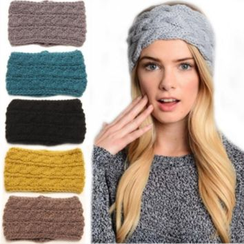 Wool Knitted Head Wrap, Multiple Colors