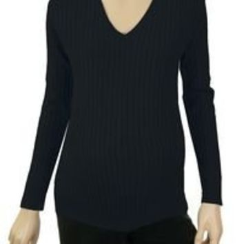 Lilo Maternity Cotton Cable V-neck Sweater