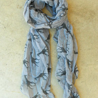 Galloping Giraffe Scarf in Gray [3640] - $14.00 : Vintage Inspired Clothing & Affordable Fall Frocks, deloom | Modern. Vintage. Crafted.