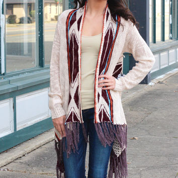 Santa Fe Way Cardigan {Taupe Mix}