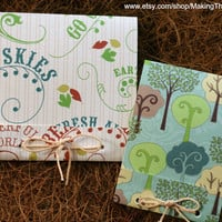 Nature Lover Notepad Set - Set of 2 - Hand tied
